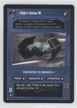 1995 Star Wars Customizable Card Game: Premiere Expansion Set [Base] #NoN - Vader's Custom Tie