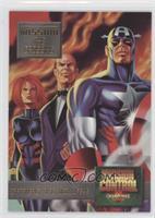 Captain America, Black Widow, Jarvis