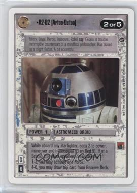 1996 Star Wars Customizable Card Game: A New Hope - Expansion Set [Base] - Unlimited White Border #NoN - R2-D2