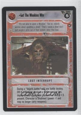 1996 Star Wars Customizable Card Game: A New Hope - Expansion Set [Base] #NoN - Let The Wookie Win