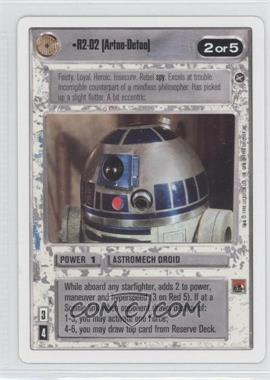 1996 Star Wars Customizable Card Game: A New Hope Expansion Set [Base] Unlimited White Border #NoN - R2-D2