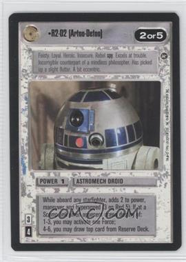 1996 Star Wars Customizable Card Game: A New Hope Expansion Set [Base] #NoN - R2-D2 (Artoo-Detoo)