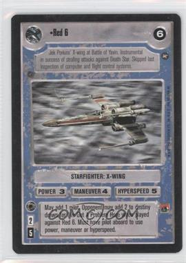 1996 Star Wars Customizable Card Game: A New Hope Expansion Set [Base] #NoN - Red 6
