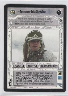 1996 Star Wars Customizable Card Game: Hoth - Expansion Set [Base] #NoN - Commander Luke Skywalker