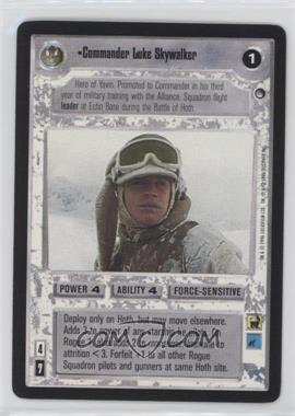 1996 Star Wars Customizable Card Game: Hoth Expansion Set [Base] #NoN - Commander Luke Skywalker