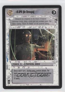 1996 Star Wars Customizable Card Game: Hoth Expansion Set [Base] #NoN - R-3PO [Ar-Threepio]