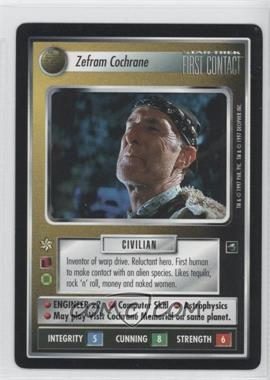 1997 Star Trek Customizable Card Game: First Contact Expansion Set [Base] #NoN - Zefram Cochrane
