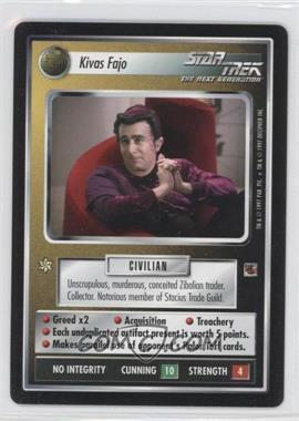 1997 Star Trek Customizable Card Game: The Fajo Collection [Base] #NoN - Kivas Fajo