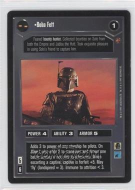 1997 Star Wars Customizable Card Game: Cloud City - Expansion Set [Base] #NoN - Boba Fett