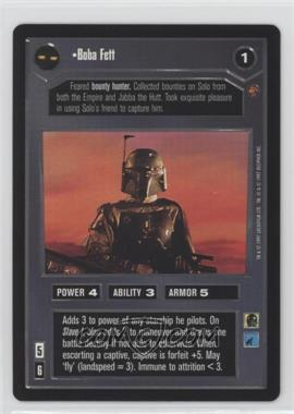 1997 Star Wars Customizable Card Game: Cloud City Expansion Set [Base] #NoN - Boba Fett