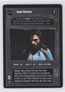 1997 Star Wars Customizable Card Game: Cloud City Expansion Set [Base] #NoN - Lando Calrissian (Dark)