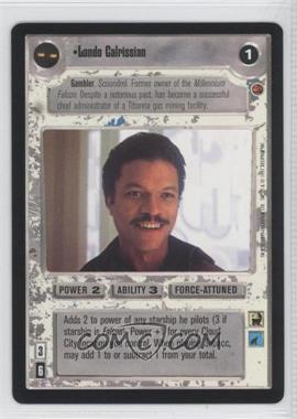 1997 Star Wars Customizable Card Game: Cloud City Expansion Set [Base] #NoN - Lando Calrissian (Light)