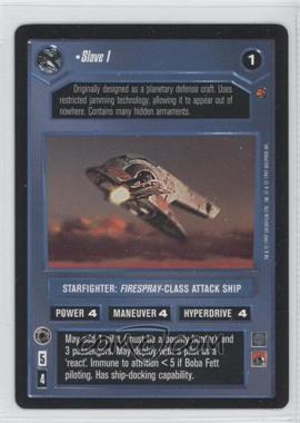 1997 Star Wars Customizable Card Game: Cloud City Expansion Set [Base] #NoN - Slave I