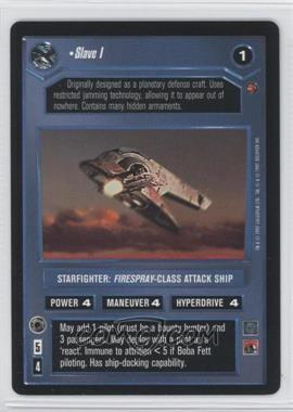 1997 Star Wars Customizable Card Game: Cloud City Expansion Set [Base] #NoN - Slave I