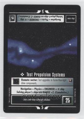 1998 Star Trek Customizable Card Game: - Official Tournament Sealed Deck [Base] #NoN - Test Propulsion Systems