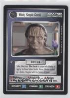 Plain, Simple Garak