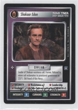 1998 Star Trek Customizable Card Game: Deep Space 9 Expansion Set [Base] #NoN - Shakaar Edon