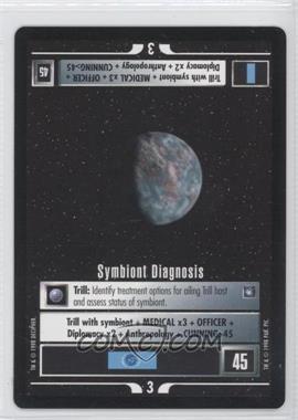 1998 Star Trek Customizable Card Game: Deep Space 9 Expansion Set [Base] #NoN - Symbiont Diagnosis