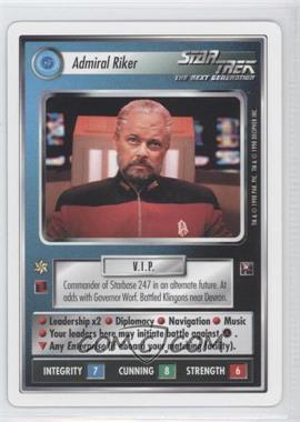 1998 Star Trek Customizable Card Game: The Dominion White Bordered Preview Set #NoN - Admiral Riker