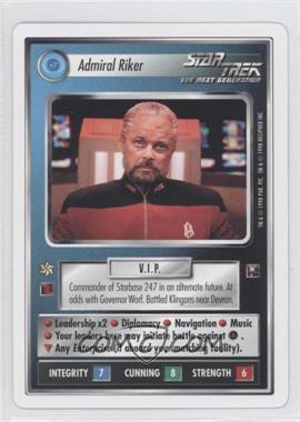 1998 Star Trek Customizable Card Game: The Dominion White Bordered Preview Set #NoN - Admiral Riker