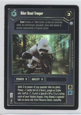 1999 Star Wars Customizable Card Game: Endor - Expansion Set [Base] - Foil #NoN - Biker Scout Trooper