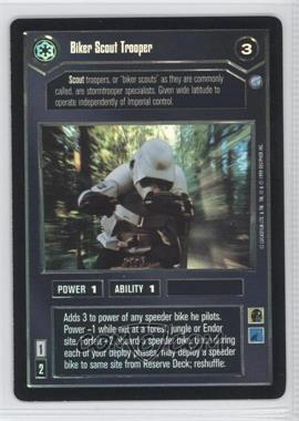 1999 Star Wars Customizable Card Game: Endor Expansion Set [Base] Foil #NoN - Biker Scout Trooper