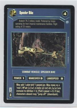 1999 Star Wars Customizable Card Game: Endor Expansion Set [Base] Foil #NoN - Speeder Bike