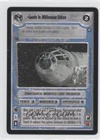 Lando in Millennium Falcon
