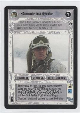 1999 Star Wars Customizable Card Game: Hoth Expansion Set [Base] #NoN - Commander Luke Skywalker