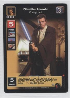 1999 Star Wars: Young Jedi Collectible Card Game - The Menace of Darth Maul Expansion Set [Base] #1 - Obi-Wan Kenobi