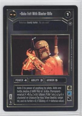 2000 Star Wars Customizable Card Game: Reflections 2 Foil Reprint Pack #NoN - Boba Fett with Blaster Rifle