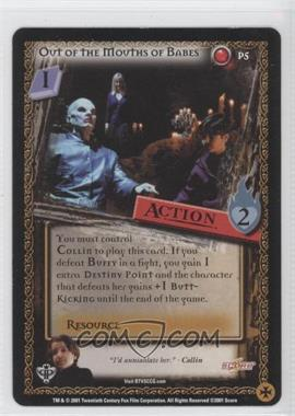 2001 Buffy the Vampire Slayer Collectible Card Game Assorted Promos #P5 - Out of the Mouths of Babes