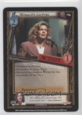 2002 Buffy the Vampire Slayer Collectible Card Game Class of '99 [Base] #174 - Morality Lecture