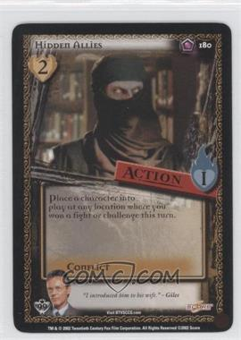 2002 Buffy the Vampire Slayer Collectible Card Game Class of '99 [Base] #180 - Hidden Allies