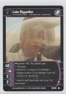 2002 Star Wars: The Trading Card Game - A New Hope Booster Pack [Base] #138 - Luke Skywalker