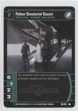 2002 Star Wars: The Trading Card Game - Attack of the Clones - Booster Pack [Base] #155 - Naboo Senatorial Escort