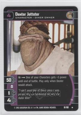 2002 Star Wars: The Trading Card Game - Attack of the Clones - Booster Pack [Base] #16 - Dexter Jettster