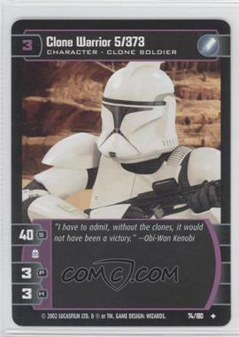 2002 Star Wars: The Trading Card Game - Attack of the Clones - Booster Pack [Base] #74 - Clone Warrior 5/373