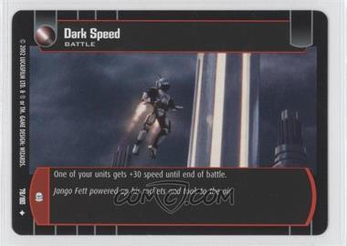 2002 Star Wars: The Trading Card Game - Attack of the Clones - Booster Pack [Base] #78 - Dark Speed
