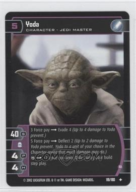 2002 Star Wars: The Trading Card Game - Attack of the Clones Booster Pack [Base] #119 - Yoda
