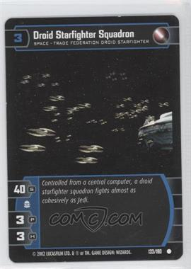 2002 Star Wars: The Trading Card Game - Attack of the Clones Booster Pack [Base] #133 - Droid Starfighter Squadron