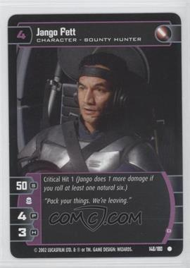 2002 Star Wars: The Trading Card Game - Attack of the Clones Booster Pack [Base] #146 - Jango Fett