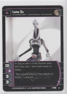2002 Star Wars: The Trading Card Game - Attack of the Clones Booster Pack [Base] #27 - Lama Su