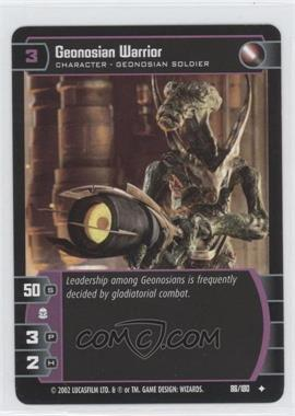 2002 Star Wars: The Trading Card Game - Attack of the Clones Booster Pack [Base] #86 - Geonosian Warrior