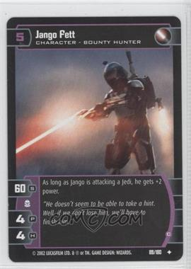 2002 Star Wars: The Trading Card Game - Attack of the Clones Booster Pack [Base] #89 - Jango Fett