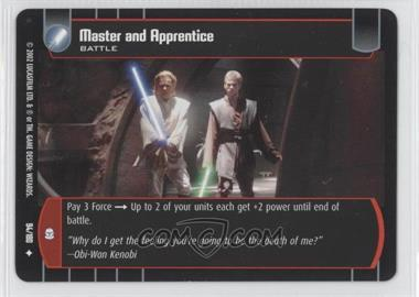 2002 Star Wars: The Trading Card Game - Attack of the Clones Booster Pack [Base] #94 - Master and Apprentice