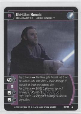 2002 Star Wars: The Trading Card Game - Attack of the Clones Booster Pack [Base] #99 - Obi-Wan Kenobi