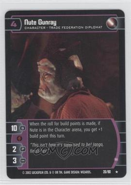 2002 Star Wars: The Trading Card Game - Sith Rising - Booster Pack [Base] #20 - Nute Gunray