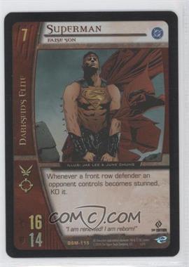 2004 VS System DC Superman - Man of Steel Booster Pack [Base] 1st Edition Foil #DSM-115 - [Missing]