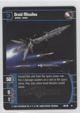 2005 Star Wars: The Trading Card Game - Revenge of the Sith Booster Pack [Base] #50 - Droid Missiles
